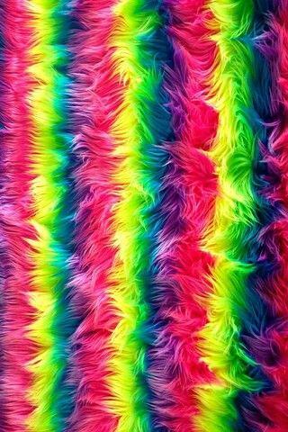 Rainbow Fuzzy Wallpaper In 2019 Rainbow Wallpaper Love