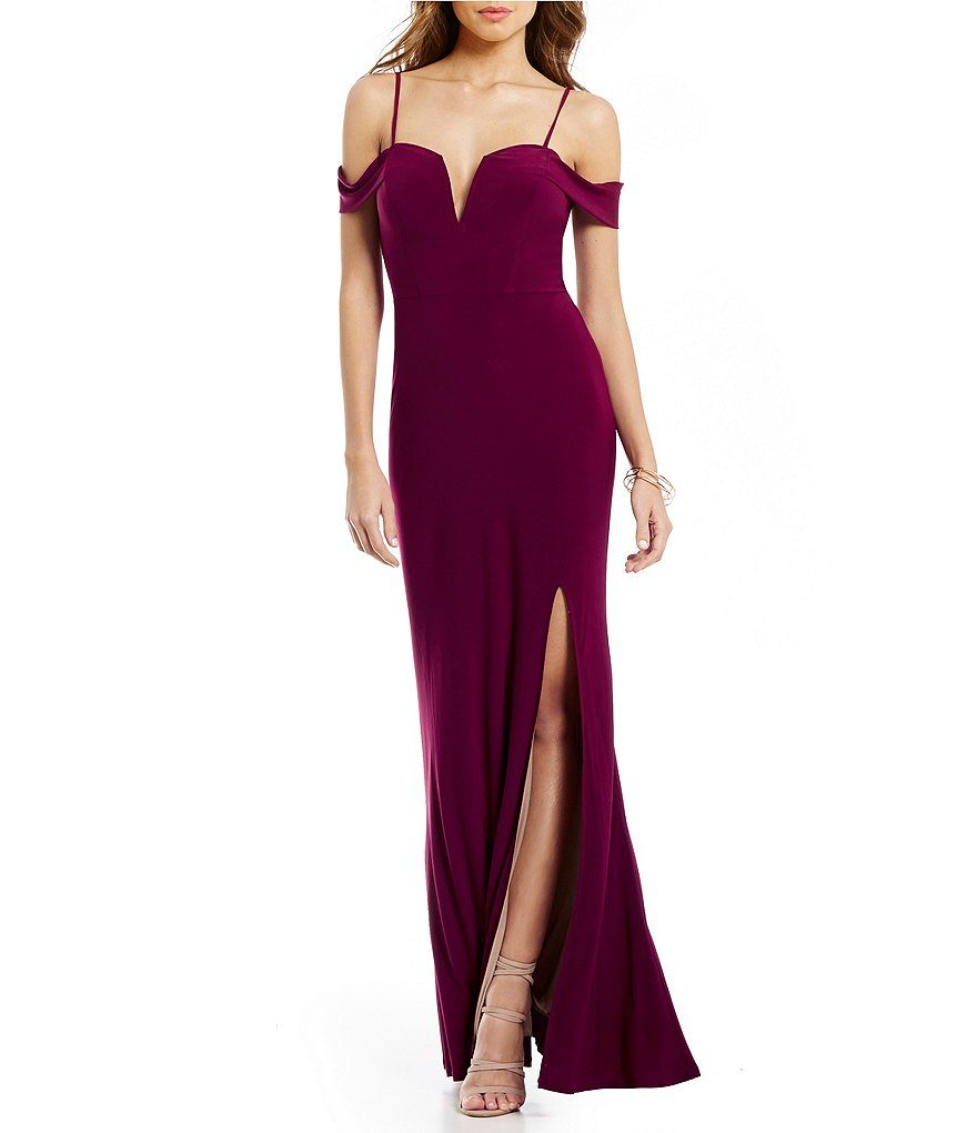 Jodi Kristopher Off-The-Shoulder Long Side Slit Dress | The o'jays ...