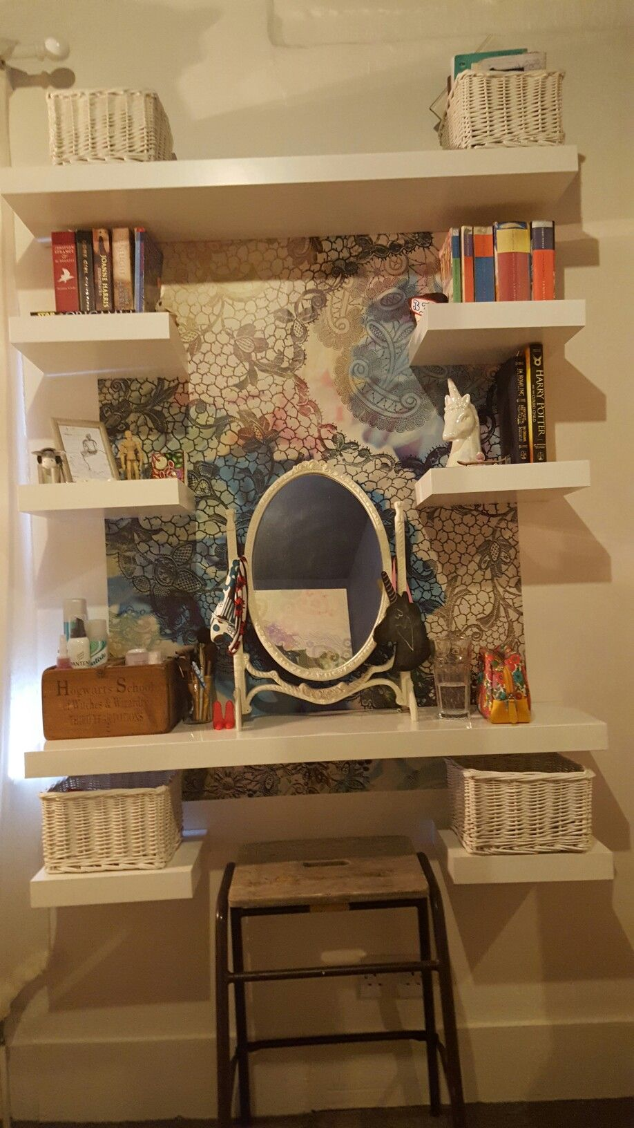 My Dressing Table Use Floating Shelves Rather Than A