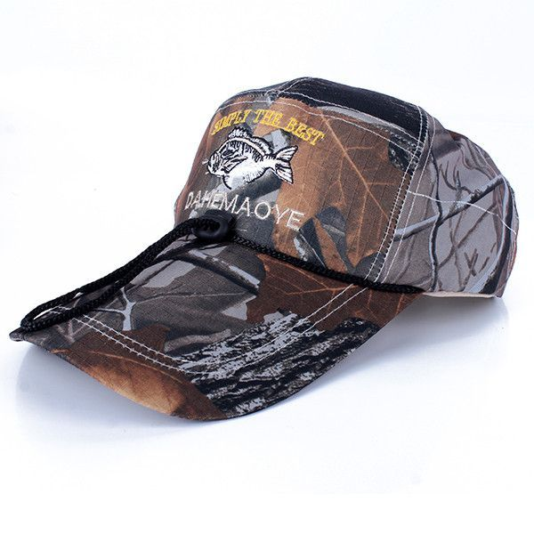 86c05042d91 Camo Cap Adjustable Hunting Army Baseball Camouflage Fishing Hat ...