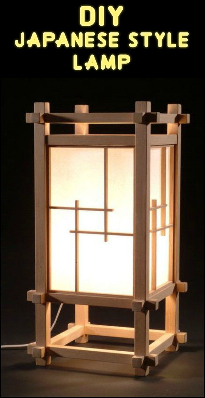 Do It Yourself Home Design: Get An Inexpensive Japanese, Shoji Style Lamp By Learning