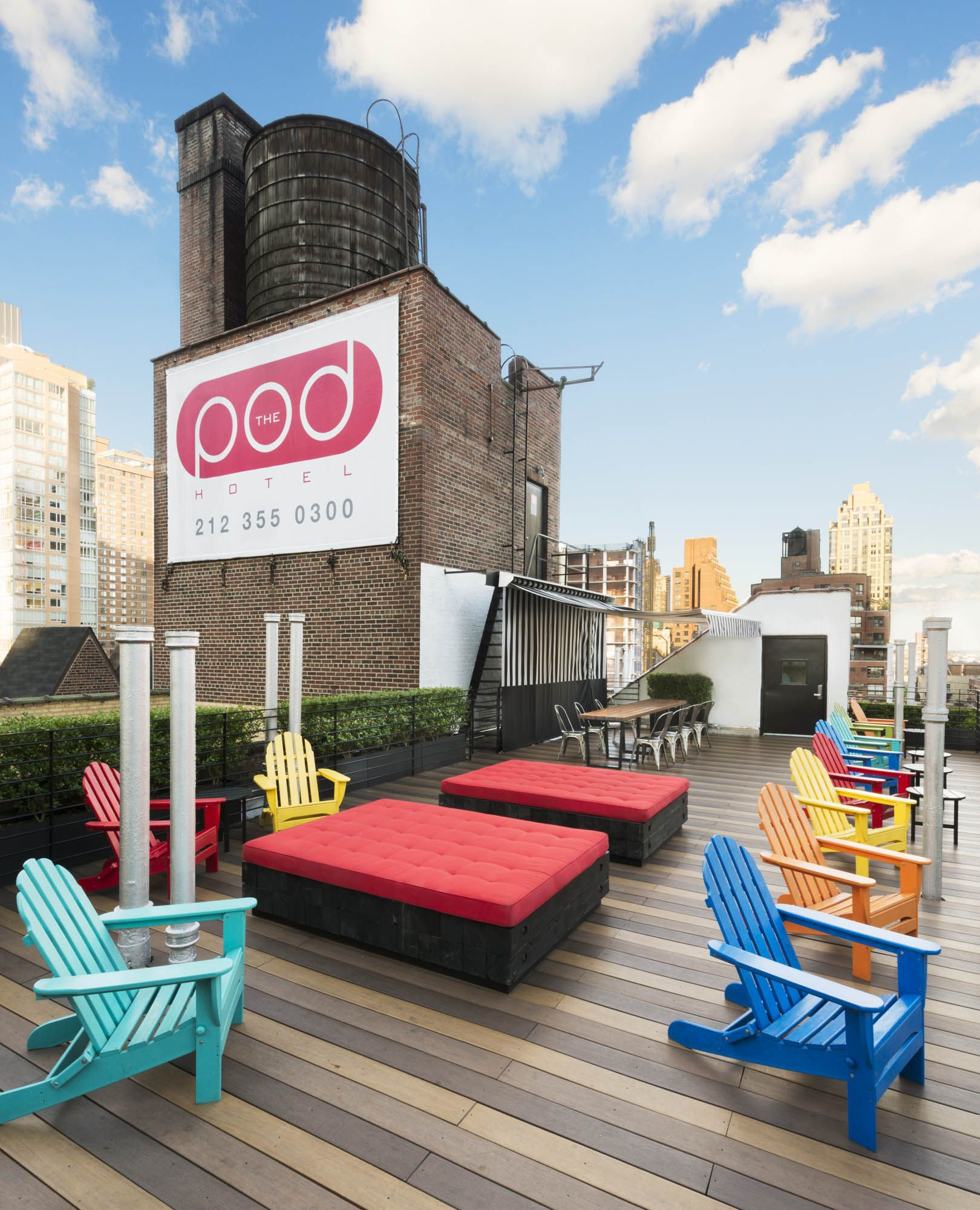 The roof of Pod 51 Manhattan hotels, Nyc hotels