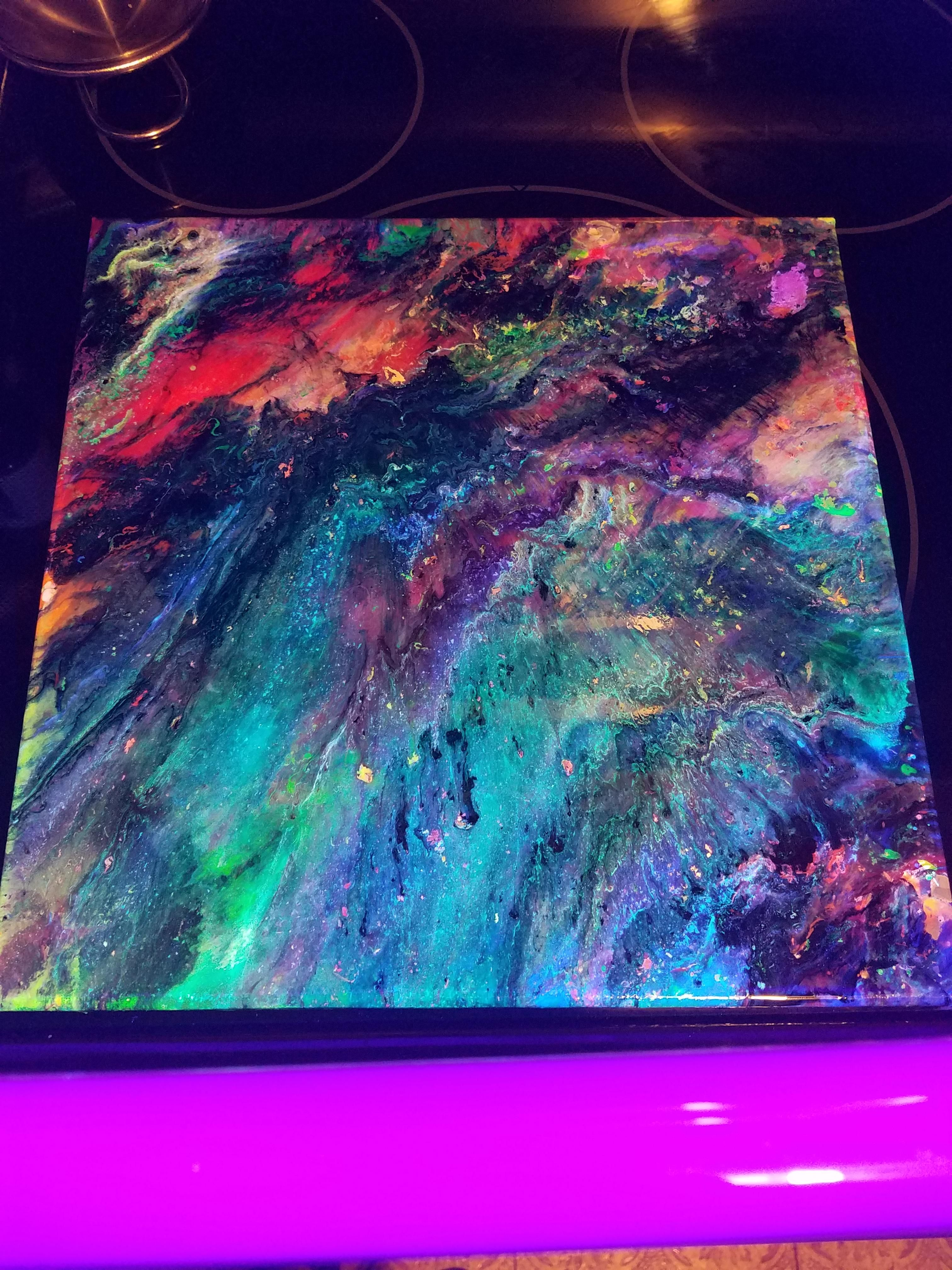 Abstract fluid resin art resin art