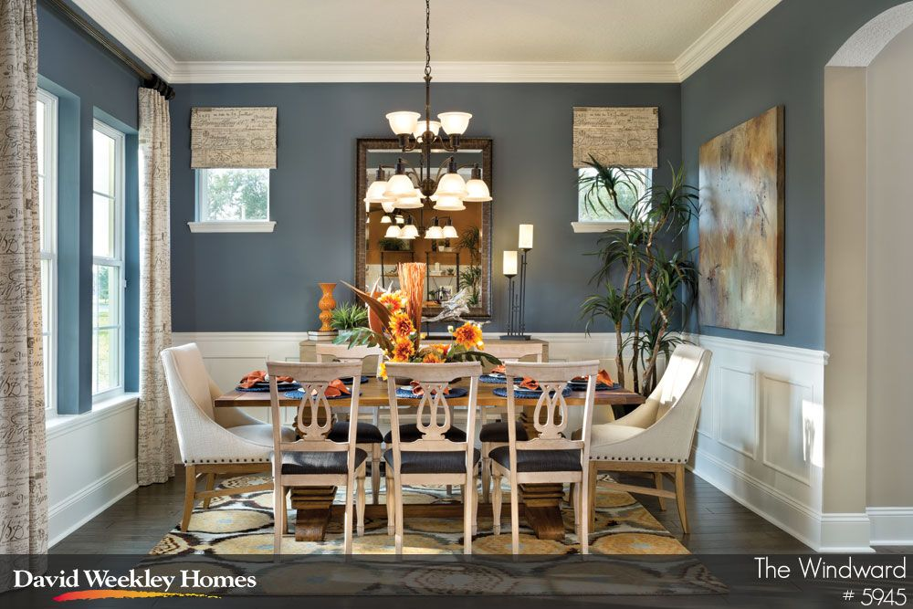 beautiful formal dining room with wainscoting  the