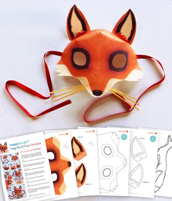 Fox Mask Fuchsmaske Animal Mask Sly Fox Animal Costume Fairytale Costume