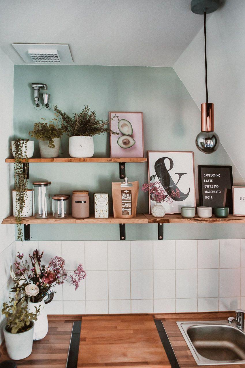 Kleine Küche neu gestalten – Rosegold & Marble
