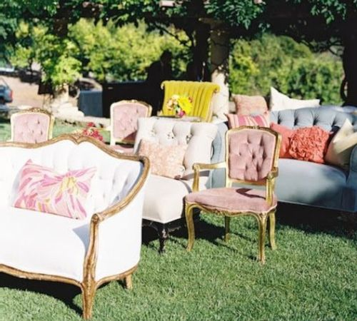 Ceremony Seating Reception: Backyard Wedding Ceremony, Wedding