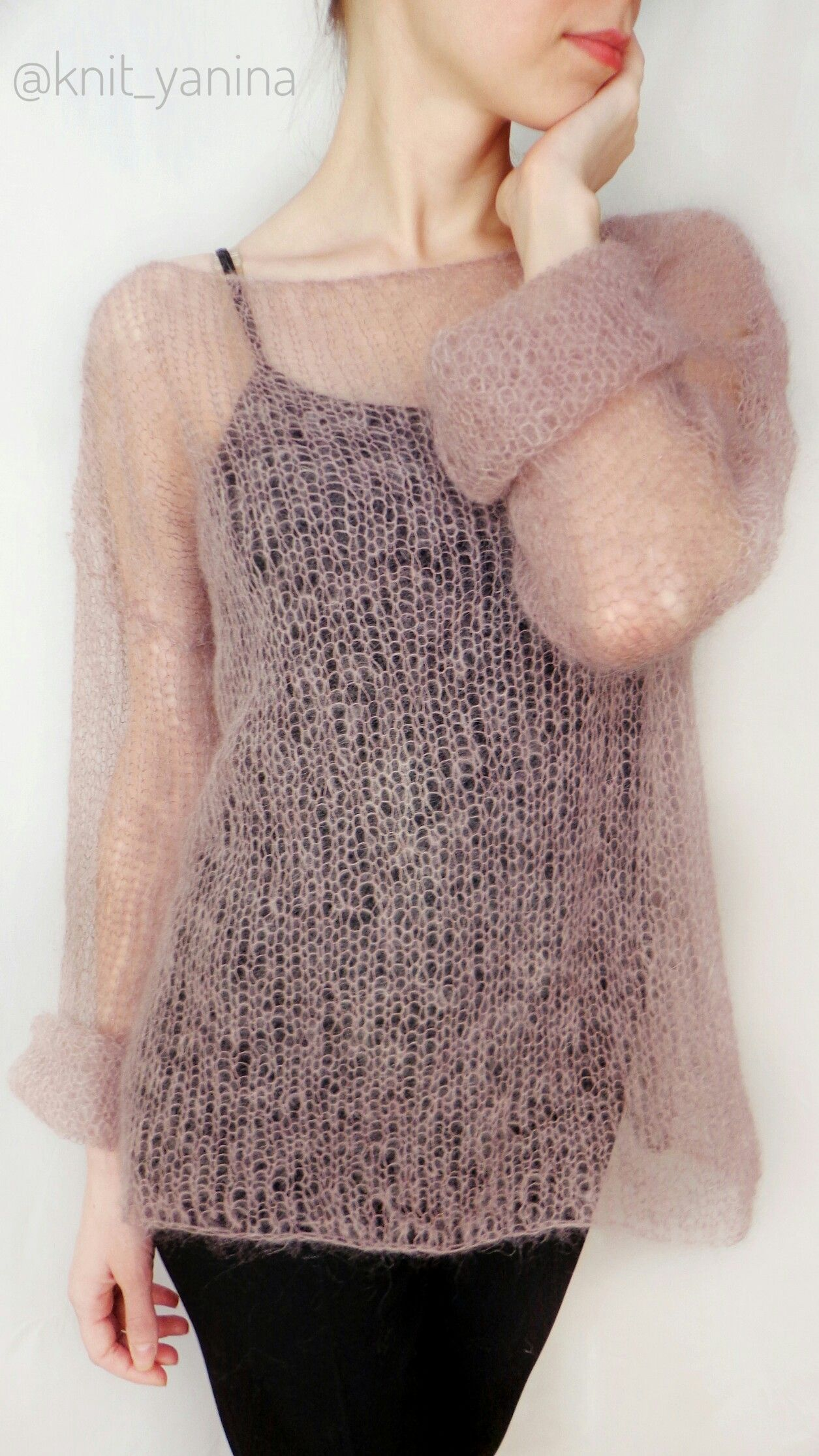 Open-fabric mohair sweater with positive ease | Knits and Crochet ...