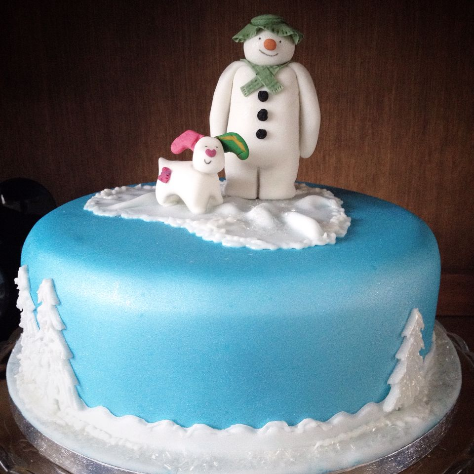 Snowman And Snowdog Cake Decorations