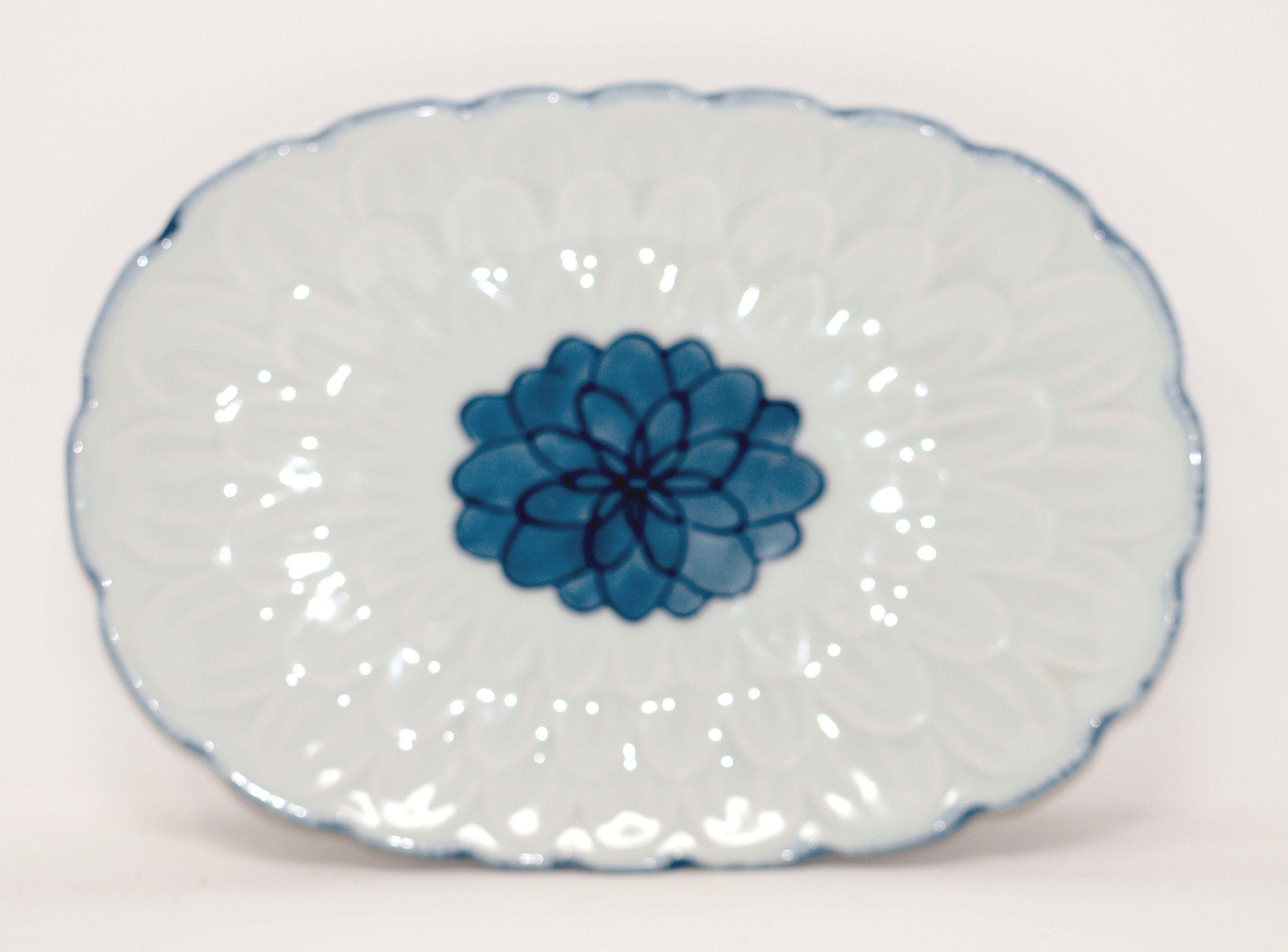 Vintage Blue & White Asian Platter, Oriental, Japanese, Dish ware, dish, Shabby Chic, Cottage Style, Farm House, Rustic,Romantic decor #dishware