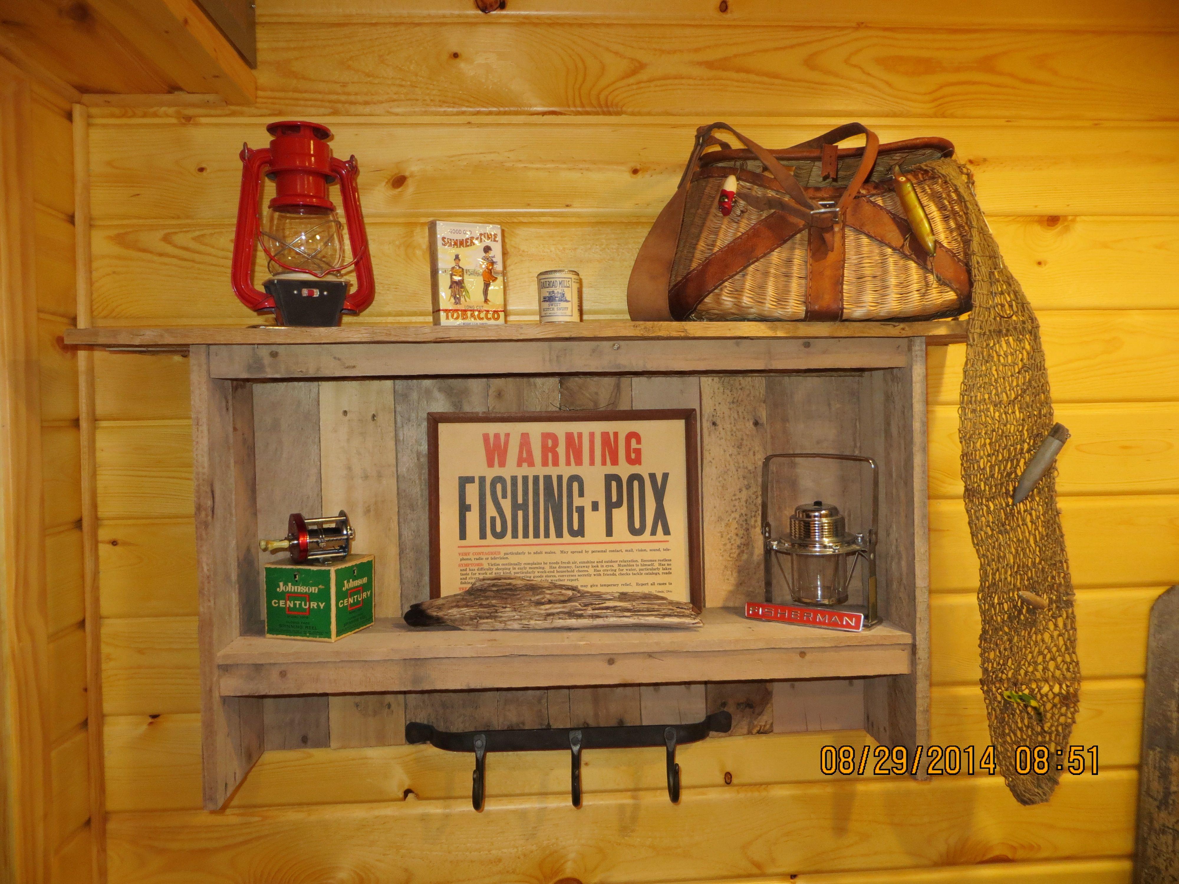 Shelf made from repurposed pallet wood - David Gabel Fond du lac, WI