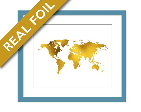 World map gold foil print globe map art print foil map world map gold foil print globe map art print foil map geography gumiabroncs Images