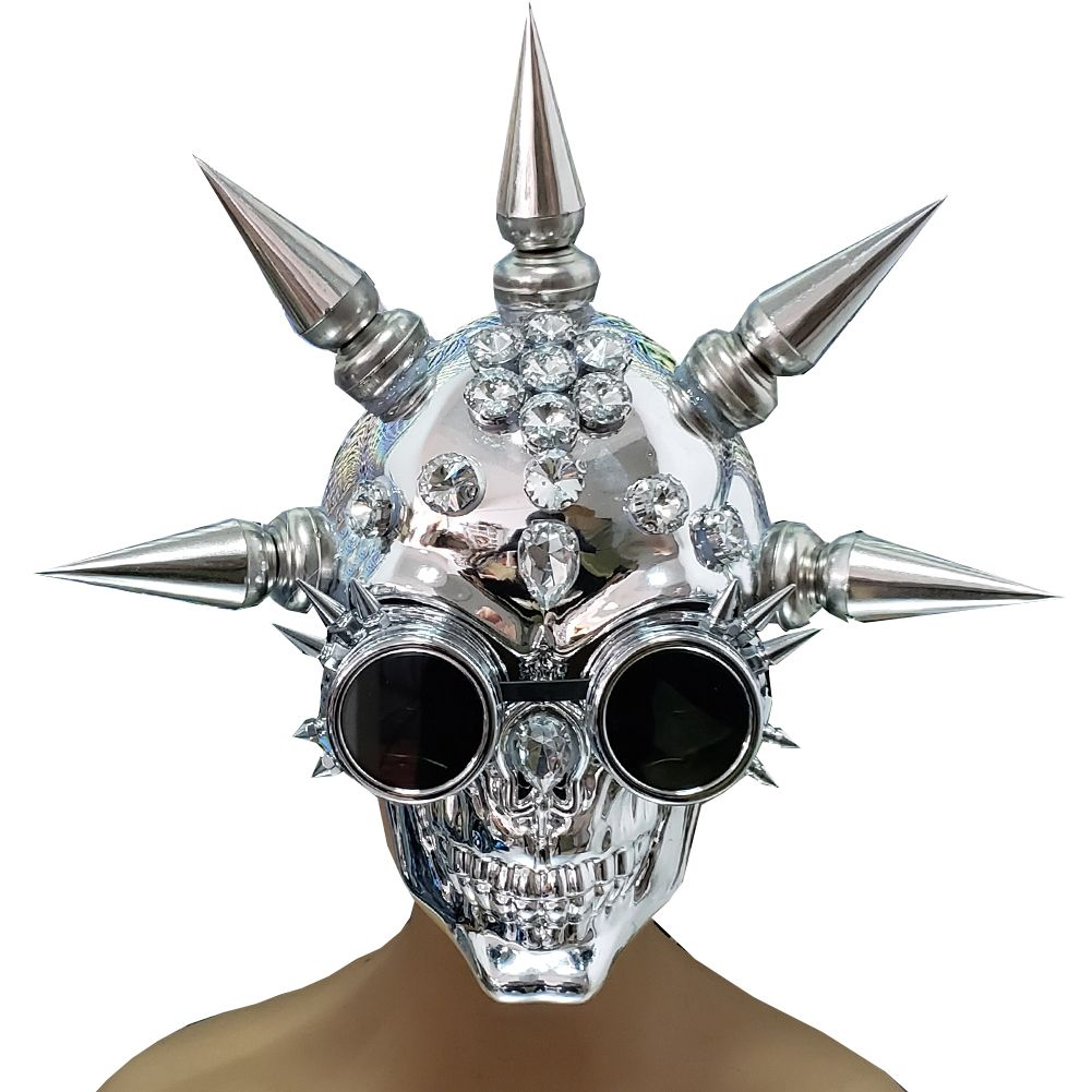 2020 Halloween In Summer Festival Burning Man Halloween Spike Skull Goggles Mask Costume Summer