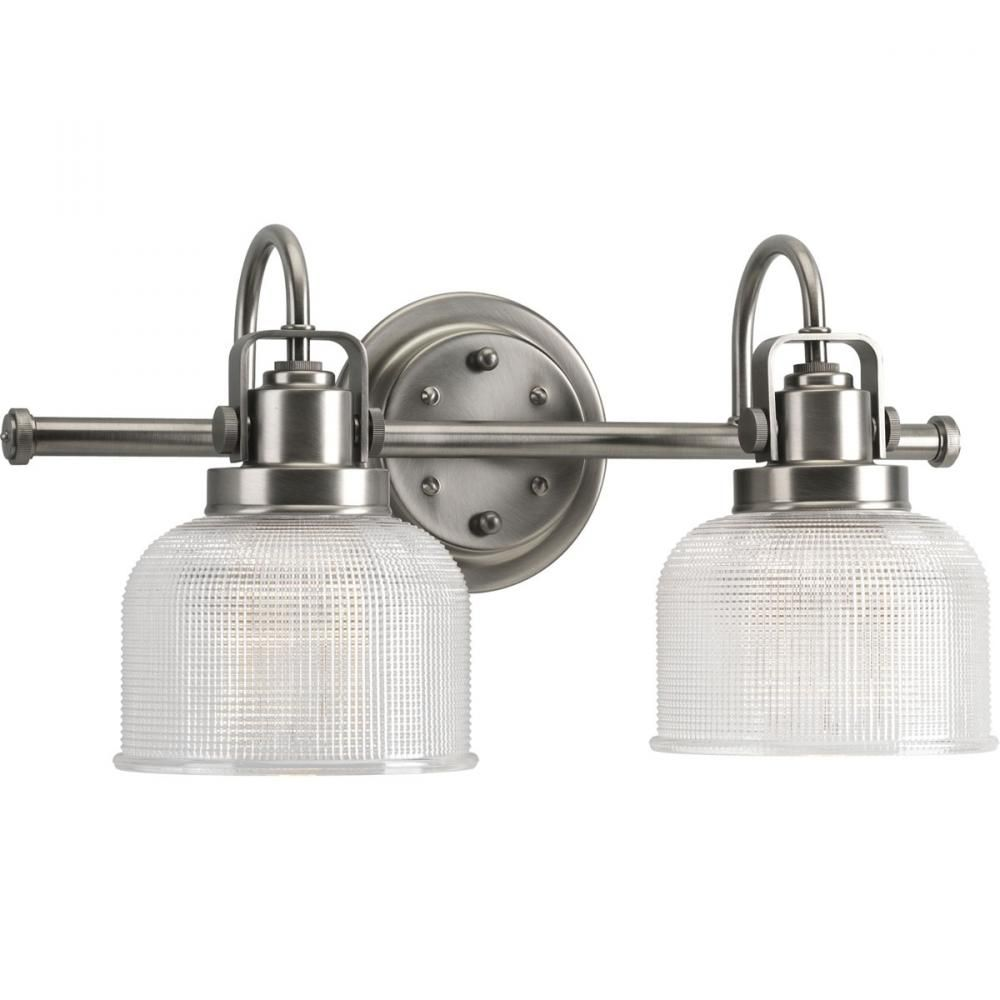 Two Light Antique Nickel Clear Double Prismatic Glass Vanity  6CDWG | Gerrie Lighting Studio  sc 1 st  Pinterest & Two Light Antique Nickel Clear Double Prismatic Glass Vanity ... azcodes.com