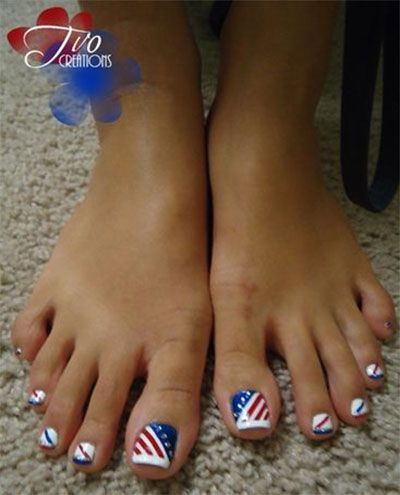 4th July Toe Nail Art Designs Hession Hairdressing