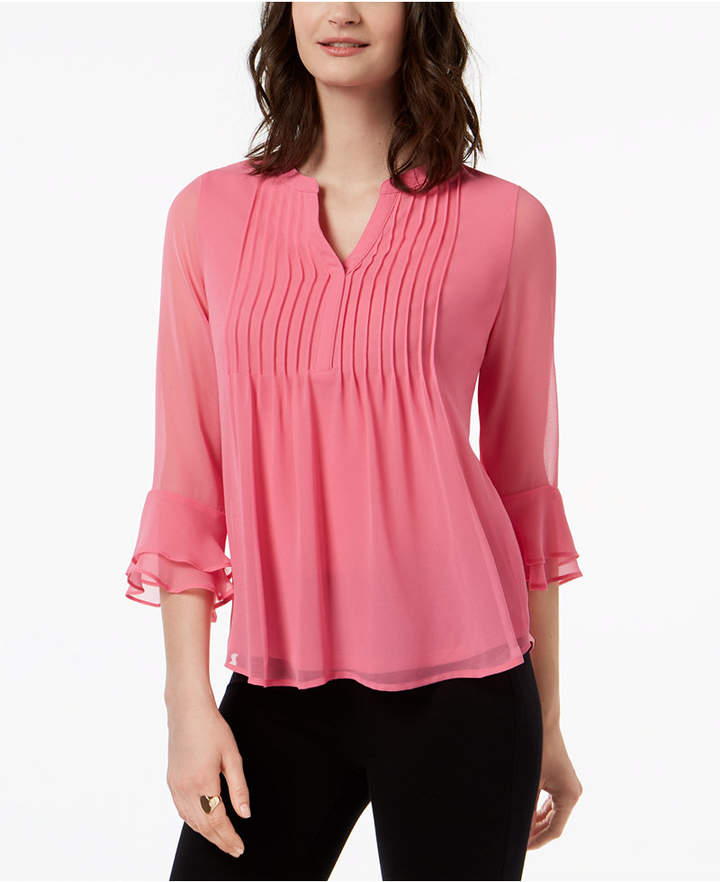 Charter Club Petite Pleated Top