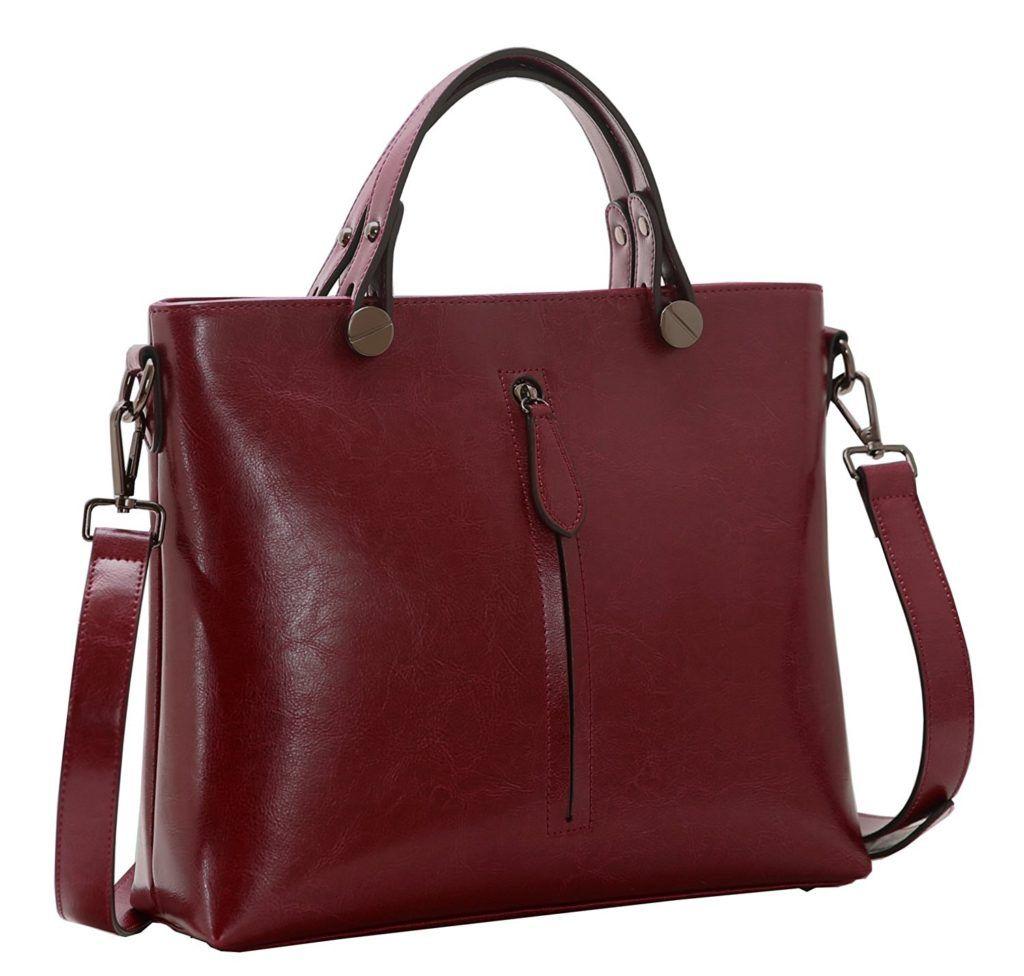 e19a7941b7b Heshe Womens Leather Shoulder Handbags Work Totes Top Handle Bag ...
