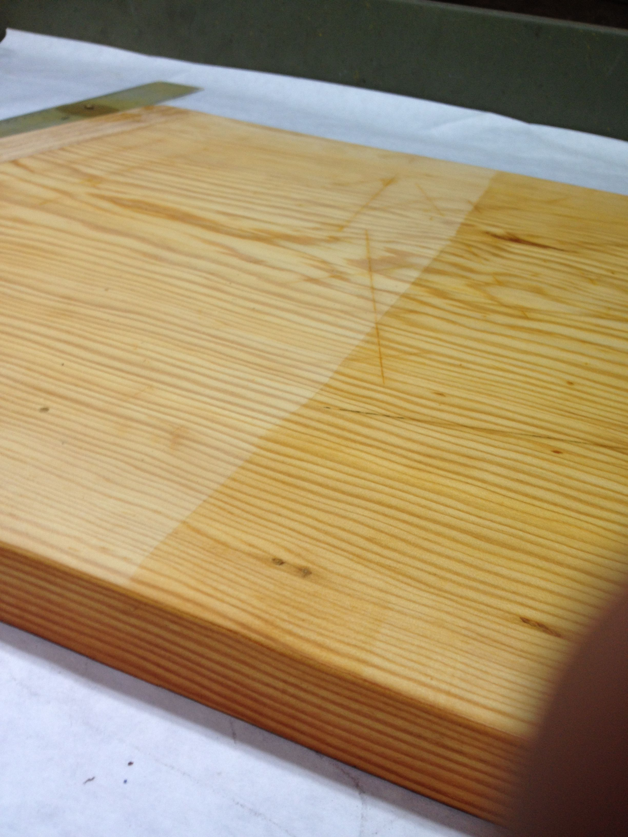 Chopping Board Restoring Lying Mineral Oil After Finish Sanding