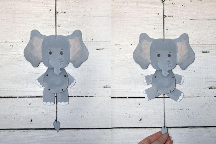 Hampelzoo Elefant Bastelanleitung
