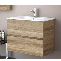 Muebles de ba o fussion madera con lavabo 31600 - Muebles de lavabo ...