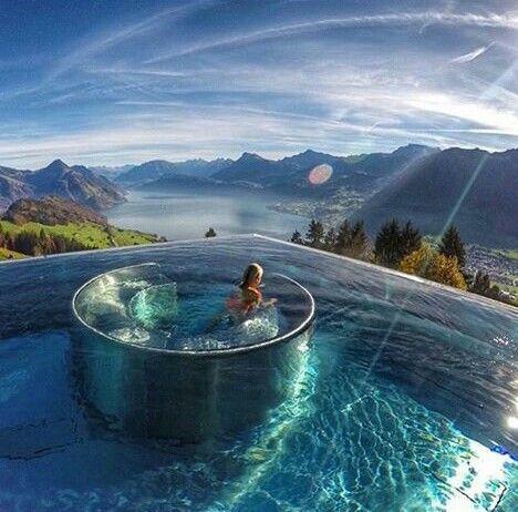 Best Hotel In Switzerland With Infinity Pool Vanishing Edge Infinity Pool Overlooking Mountains And Water Hotel Villa Honegg Hotel Villa Honegg Switzerland Villa Honegg