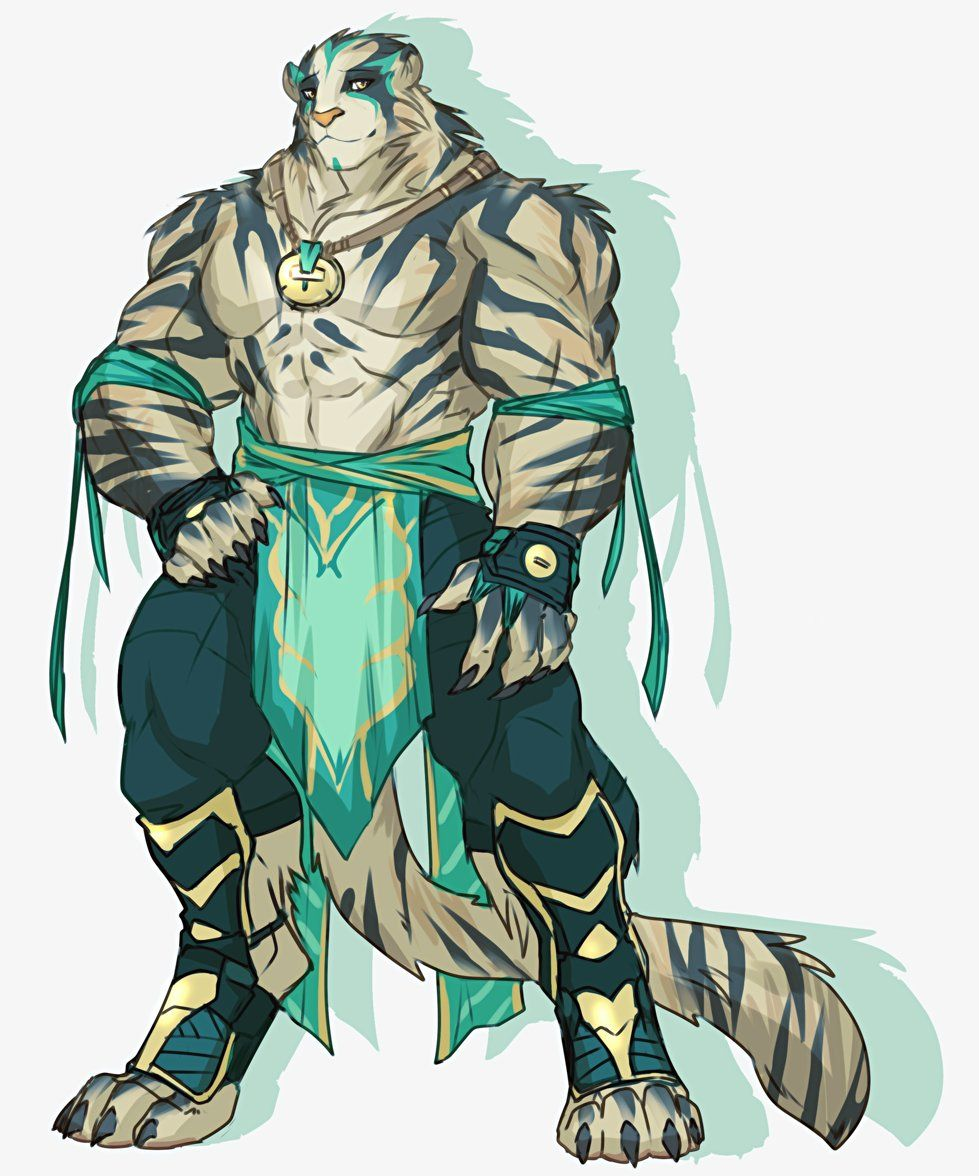 The tiger warrior | Anthro furry, Furry drawing, Furry art