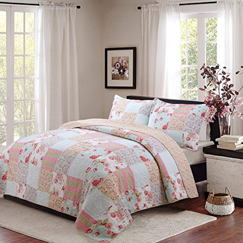 100% Cotton Pure Handmade Quilt 3pcs Set Summer Quilt