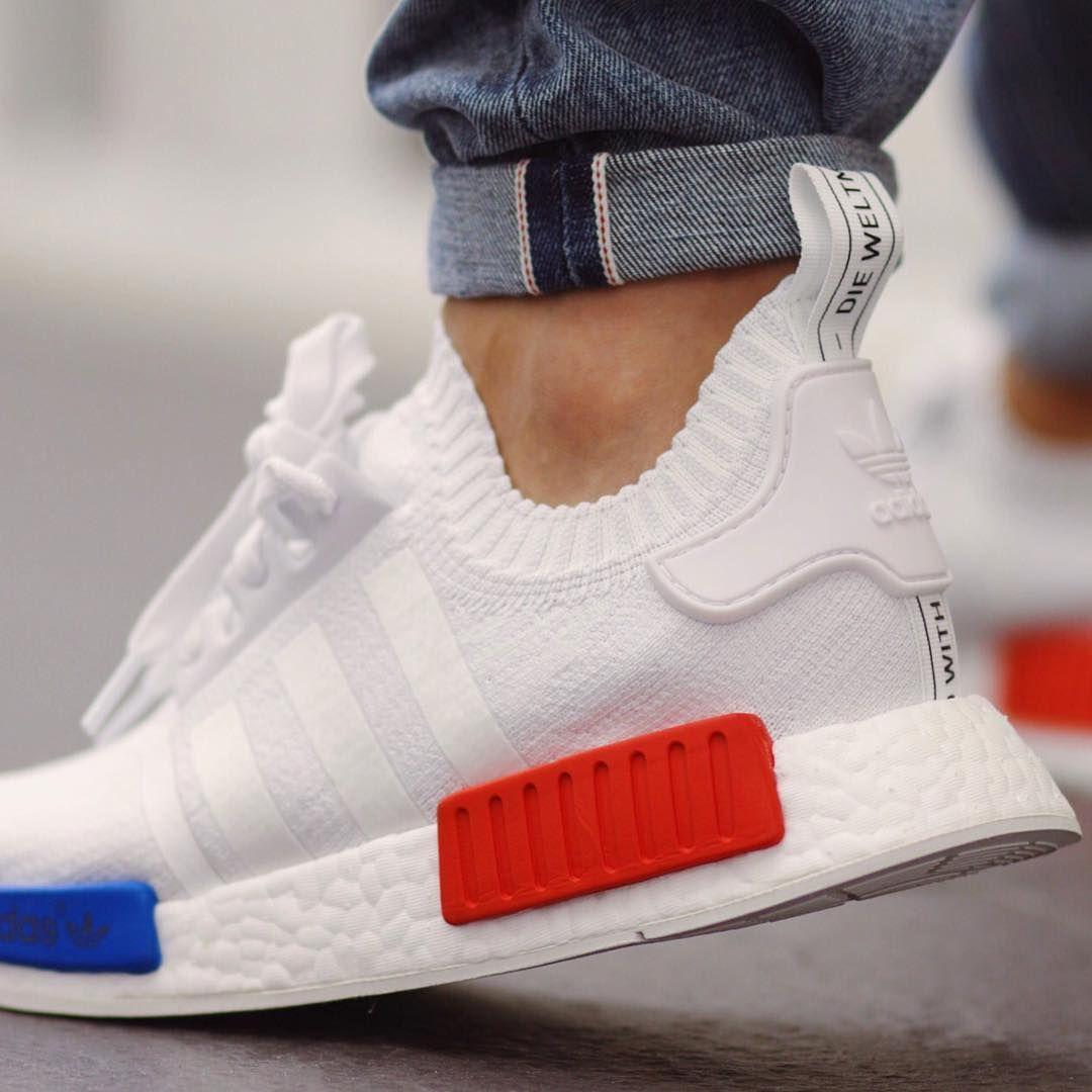 ADIDAS NMD R1 PRIMEKNIT OG WHITE Release | Adidas schuhe