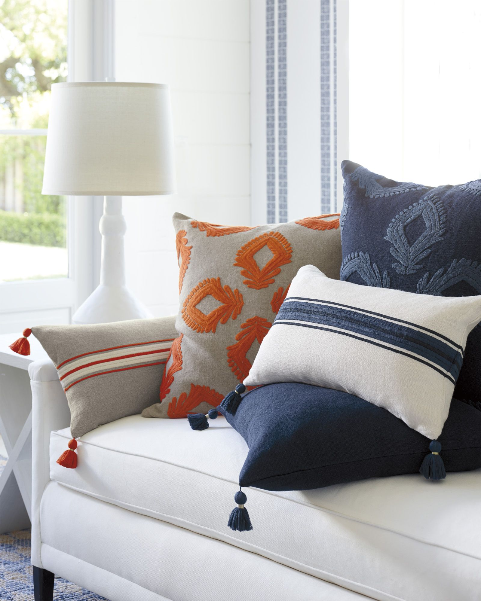 Leighton Pillow Cover | Orange pillow covers, Living rooms and Pillows
