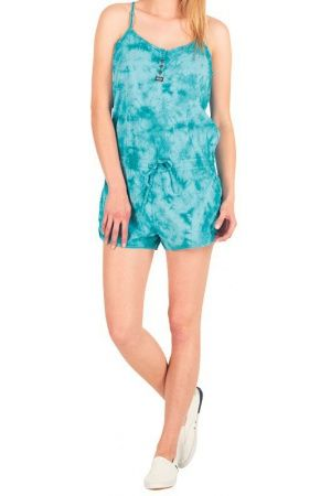Dames jumpsuits - Superdry Dames Tie Dye Playsuit Turquoise