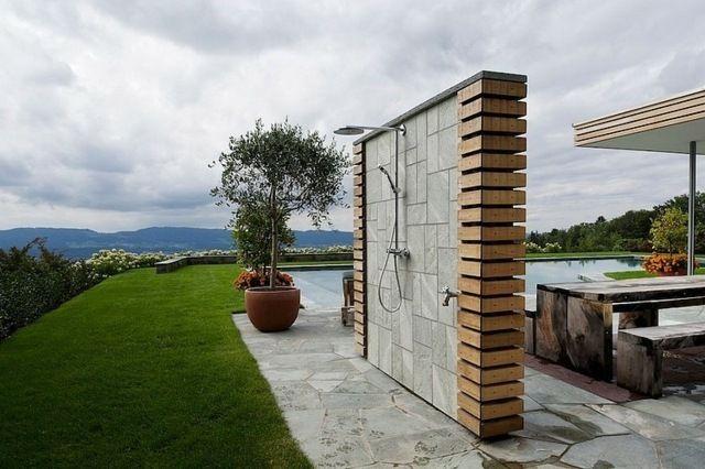 terrasse sitzzecke gartendusche moderne gestaltung   zukünftige, Garten seite