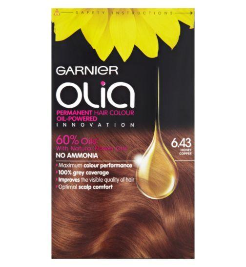 Garnier Olia Honey Copper 6 43 Permanent Hair Colour Boots Garnier Olia Permanent Hair Color Hair Color