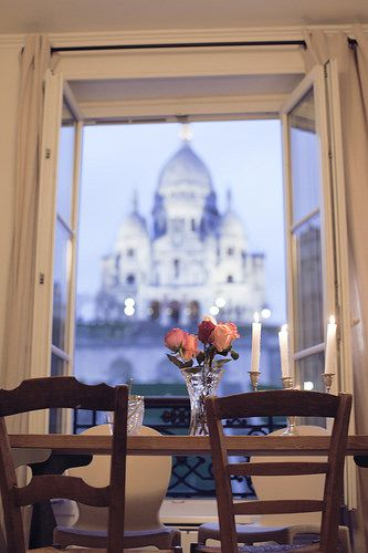 paris apartment with a view of the sacre coeur by Making Magique, via Flickr