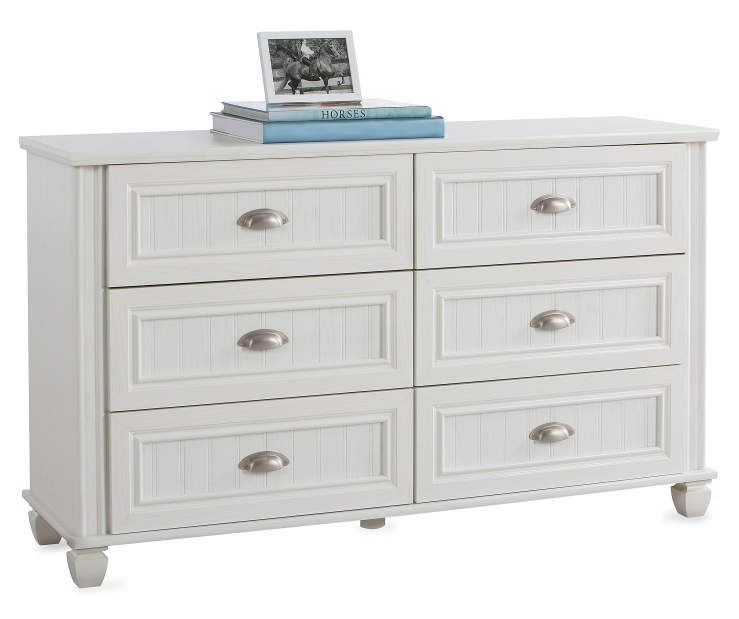 buy a 6 drawer federal white dresser at big lots for less shop big lots furniture in our. Black Bedroom Furniture Sets. Home Design Ideas