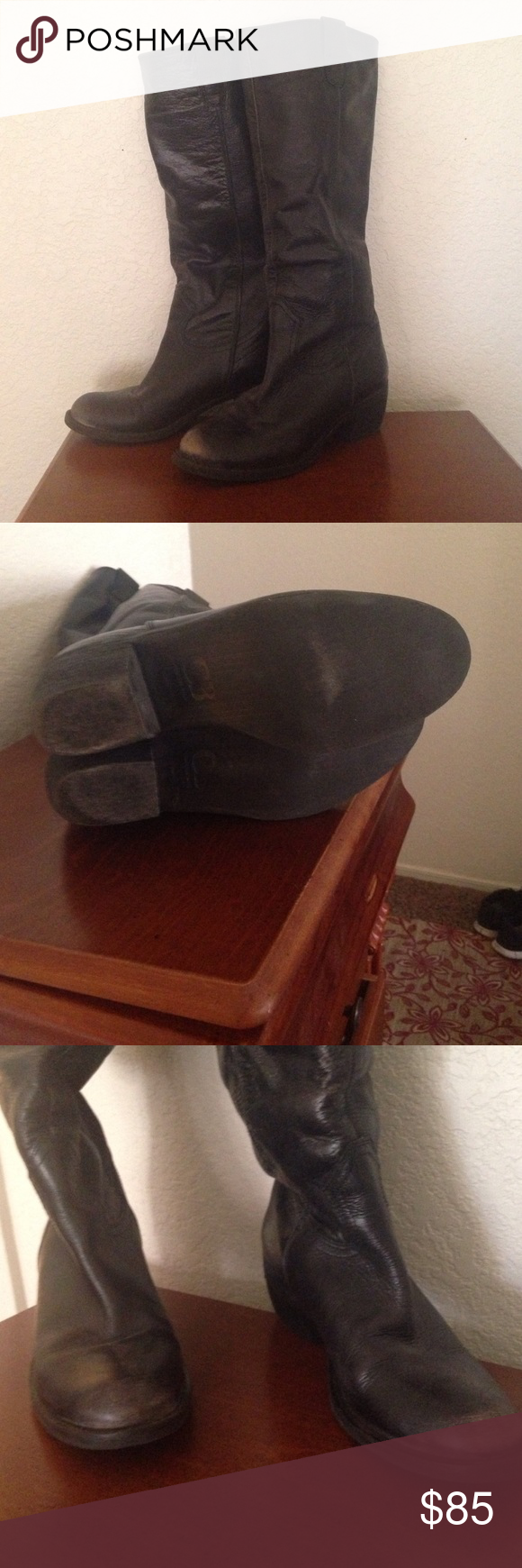 Gianni Bini black boots Hardly used, size 8 , distress beautiful looking , black Gianni Bini Shoes Heeled Boots