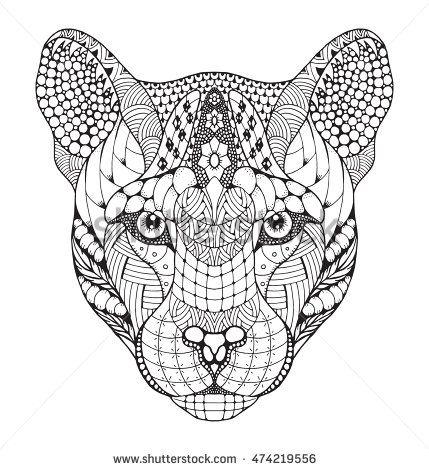 puma à colorier
