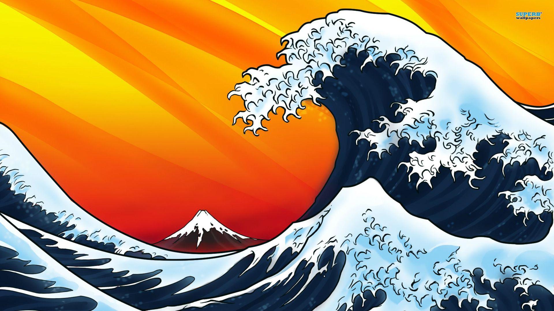 Japanese Style Waves Wallpaper Waves Wallpaper Japanese Art Art