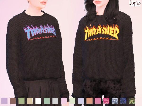 Jupho S Thrasher Magazine Hoodie Mesh Needed Sims 4
