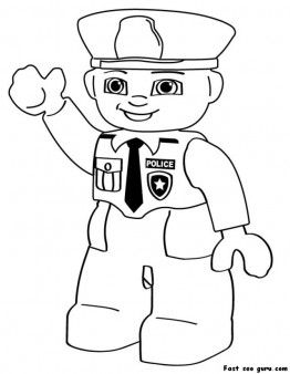 Incroyable Printable Lego Police Coloring In Sheets