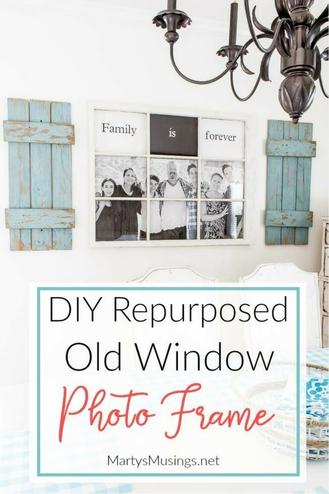 This DIY tutorial turns a cast off window and an engineering print ...