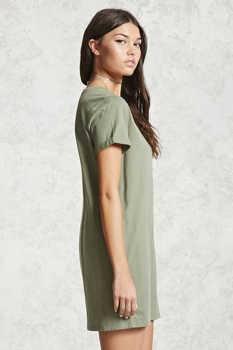 Forever contemporary a cotton tshirt dress featuring a round