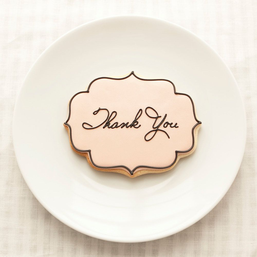 Wedding Thank You Cookie Favors - Place Cards - 1 doz - Seating ...