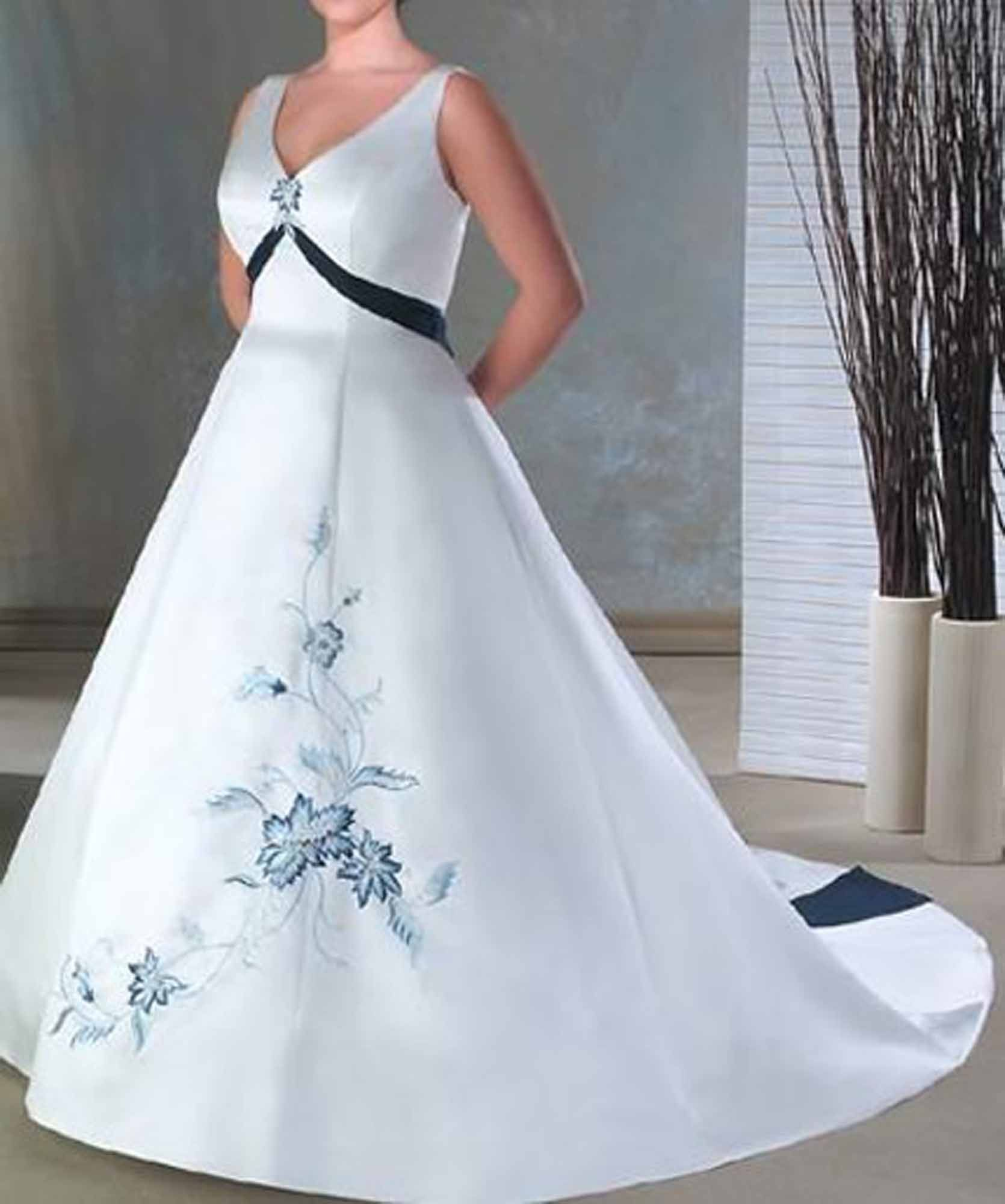 White and blue wedding dress  white and blue wedding dress  Amy bridal  Pinterest  Blue wedding