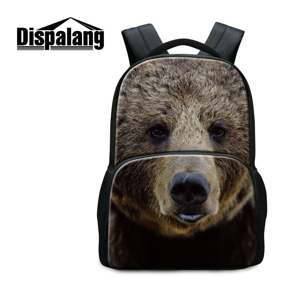 7195248a21 Dispalang Zoo Animal Printing Backpacks For Laptop Bear Wolf Fox Horse  School Bags For Boys Children Canvas Mochila Backpacking  Affiliate