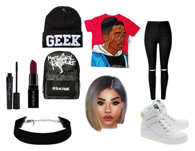 """""""GEEK"""" by eleasapotts123 ❤ liked on Polyvore featuring Moschino, Smashbox, women's clothing, women, female, woman, misses and juniors"""