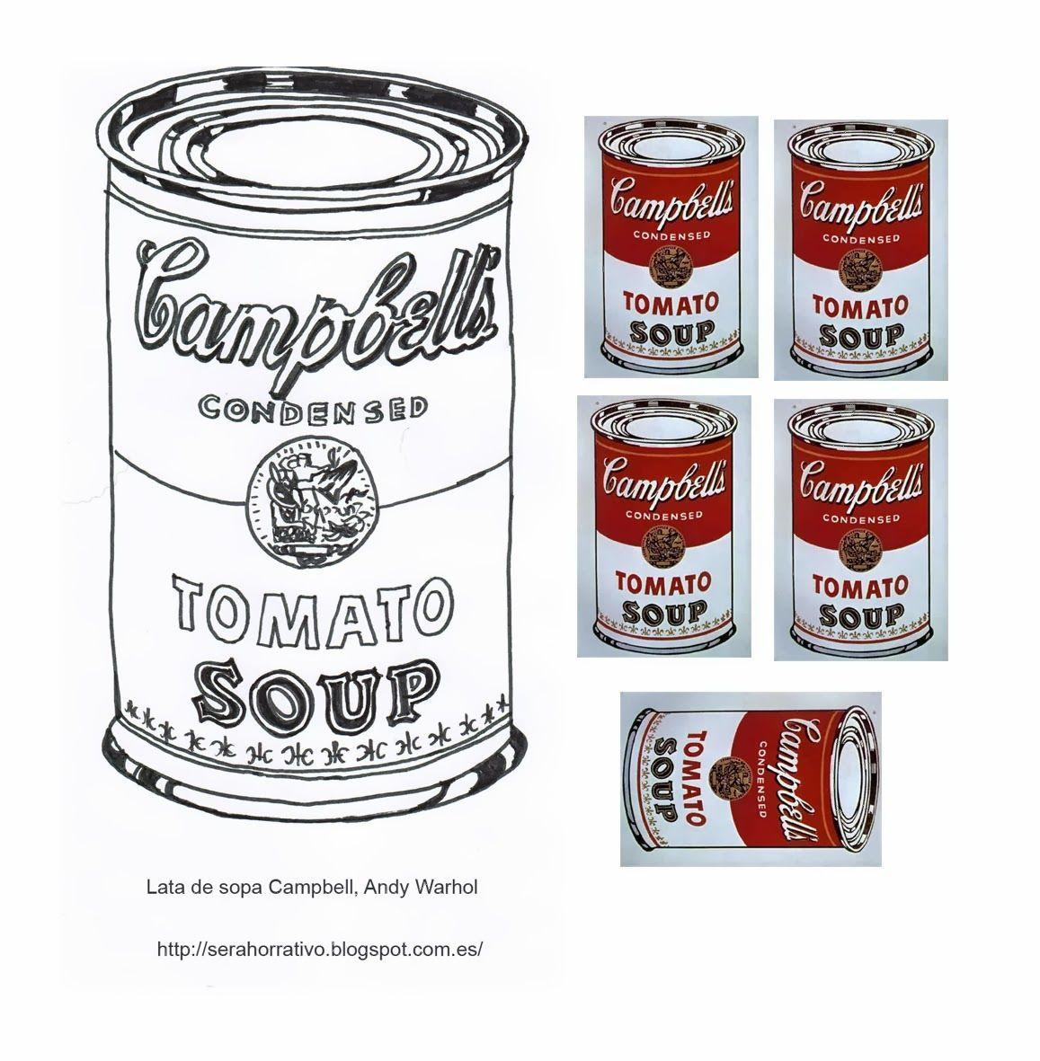 Latas sopa Campbell, Warhol | trabajar artistas | Pinterest | Sopa ...