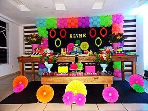 Superb Decoração Neon By Ione Lima Party Decor U2013 Blog Inspire Sua Festa