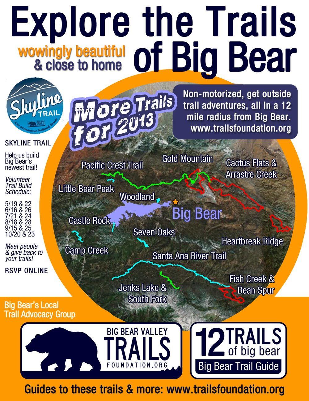 12 Trails | Big Bear Valley Trails Foundation | Big bear