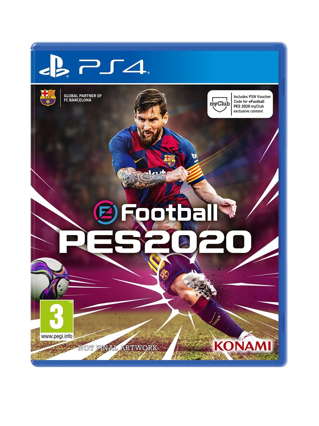 Playstation 4 Efootball Pes 2020 Ps4 In One Colour In 2020 Ps4