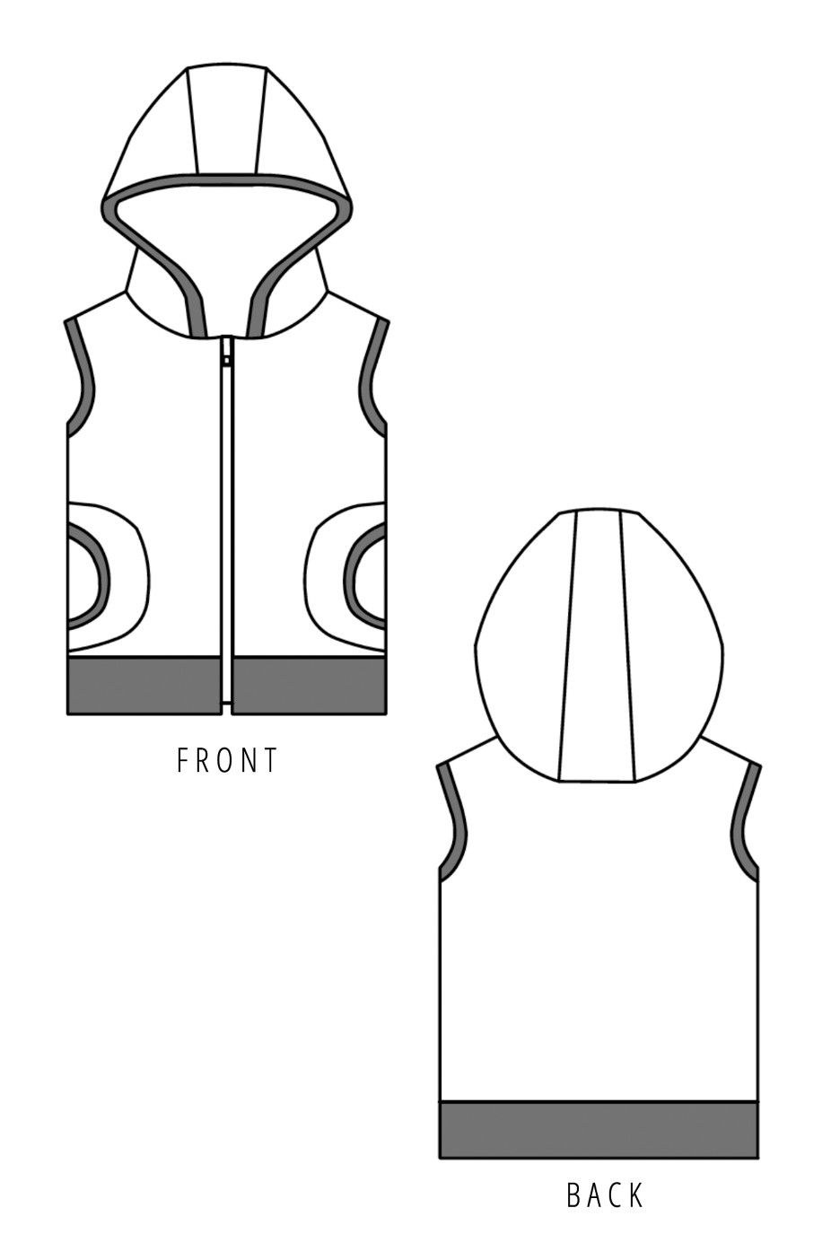 Hero Vest Sewing Pattern by Make It Perfect | Sewing patterns ...